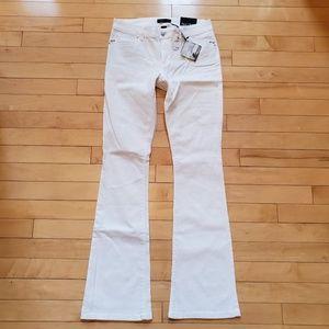 White House Black Market Skinny Flare White Jeans